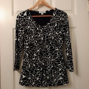 Like new! Black White abstract floral